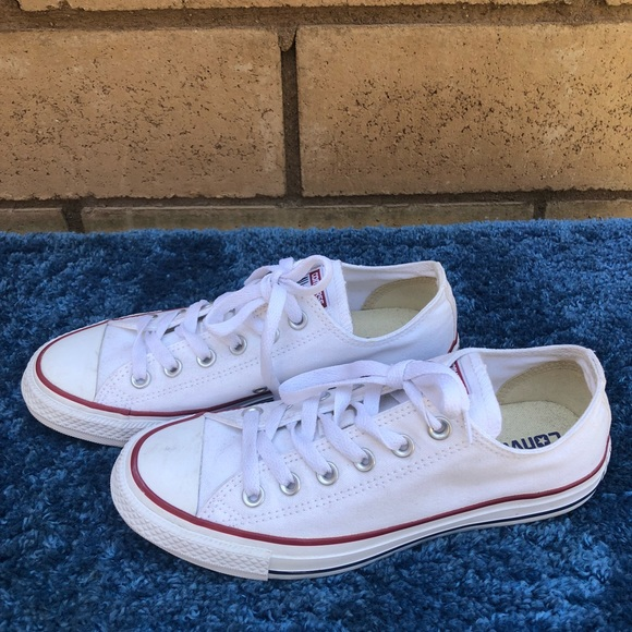4083d06cc74c Converse Shoes - converse white red original low tops